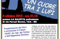 Presentazione del libro Un cuore tra i lupi a Reggio Emilia – 4 ottobre 2013