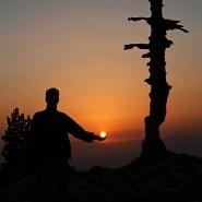 Un totem loricato alla Grande Porta del Pollino