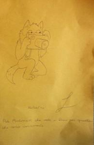 Disegno su tovaglia di carta di Leonardo Di Giuseppe