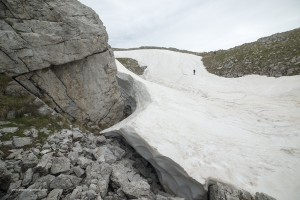 Il nevaio sul monte Pollino